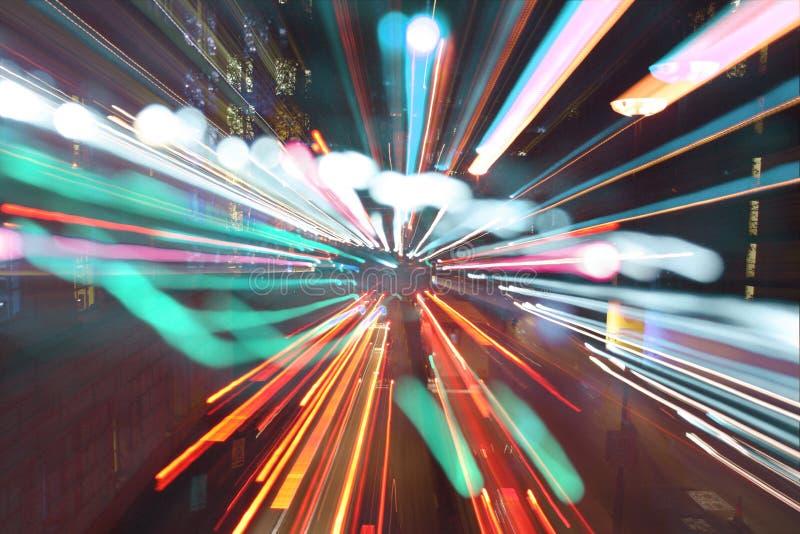 светлая спешка london стоковое фото