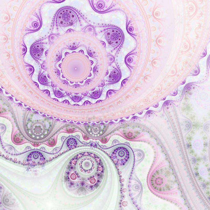 Светлая текстура clockwork фрактали иллюстрация штока