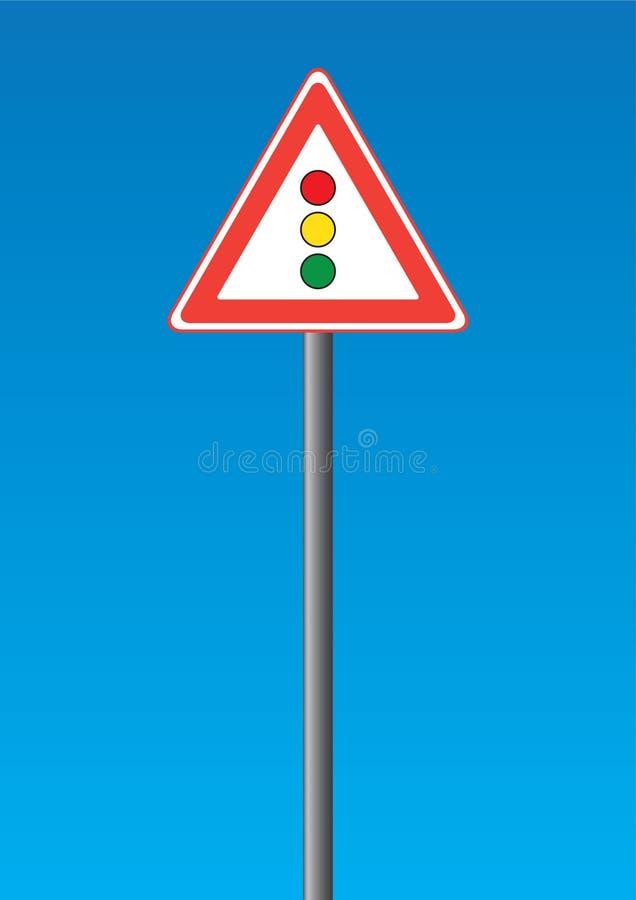 светлое движение дорожного знака иллюстрация вектора