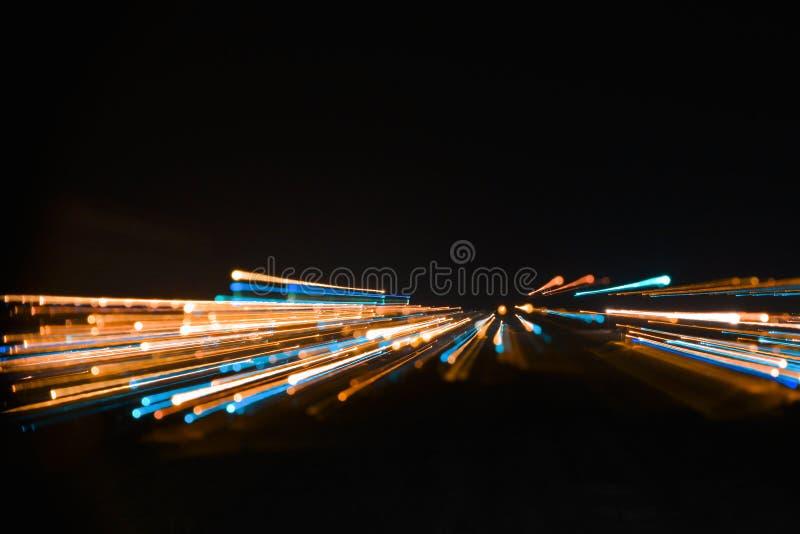 Светлое нашествие вечером стоковая фотография rf