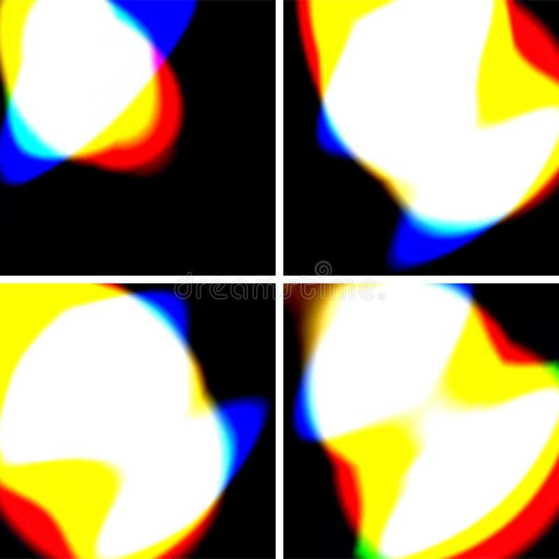 светлое отражение иллюстрация вектора