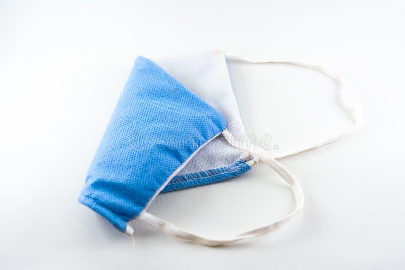 светло-лицевая маска синий цвет изолированный белый фон стоковое изображение rf