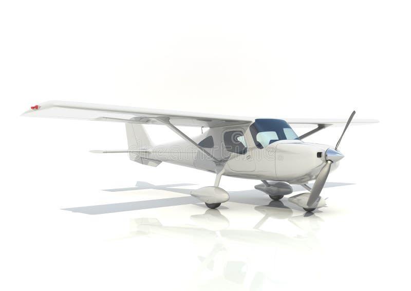 Светлые воздушные судн с одиночным пропеллером иллюстрация штока