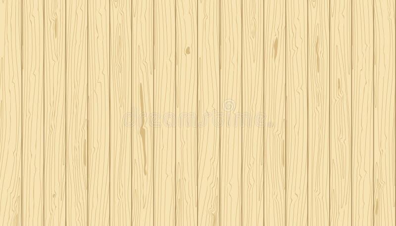 Светлые деревянные вертикальные планки Зерно вектора текстурировало предпосылку Облицовка сосны иллюстрация вектора