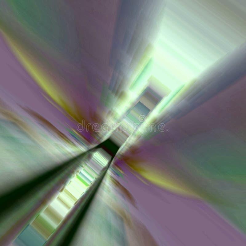 светлые лестницы в зеленом цвете и розе стоковая фотография rf
