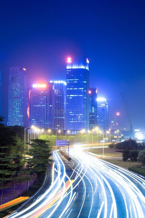 светлые тропки дороги стоковая фотография rf