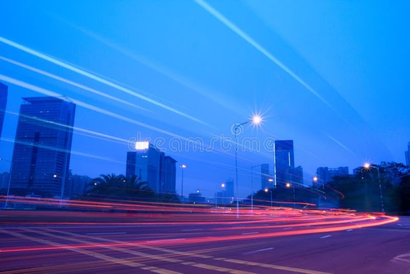 светлые тропки улицы стоковые изображения