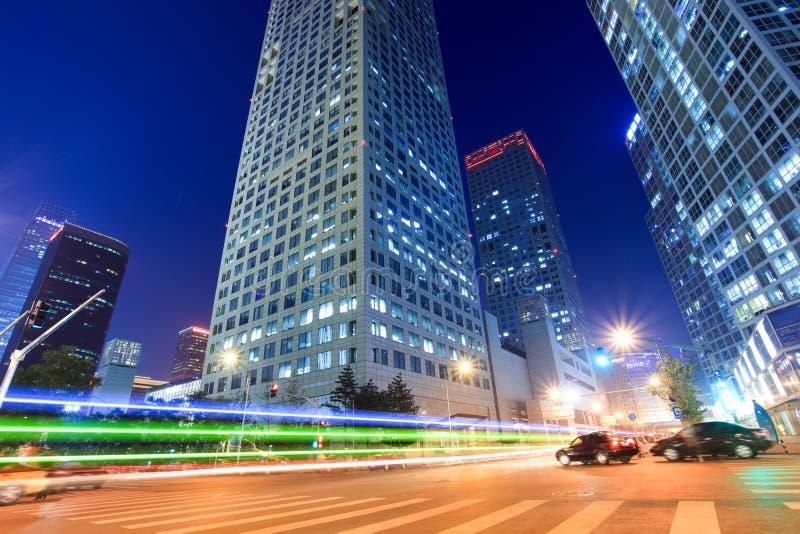 светлые тропки улицы стоковое фото rf