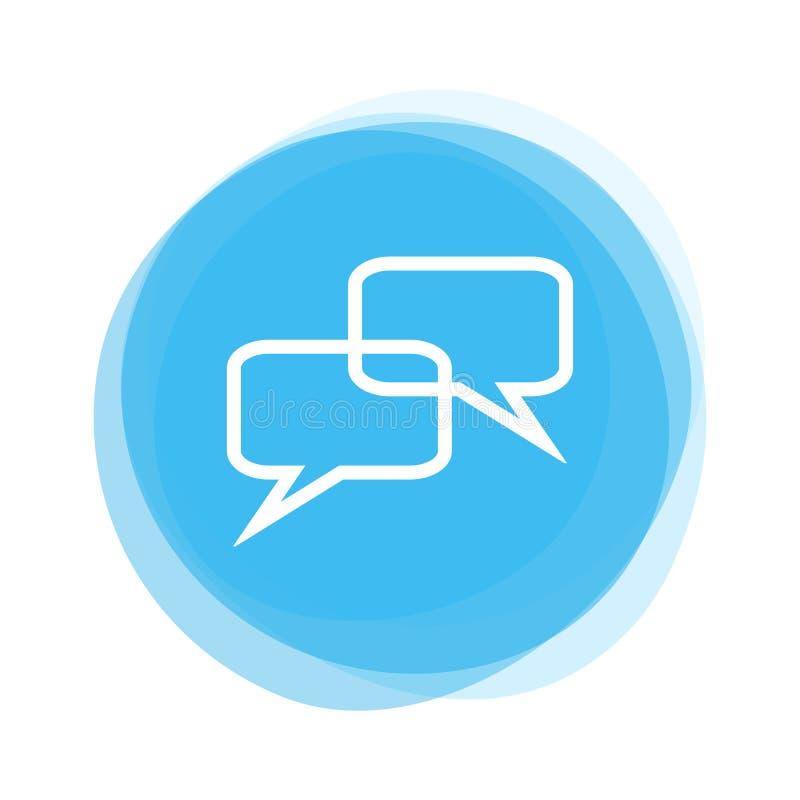 Светлый - голубая кнопка: Пузырь речи иллюстрация вектора