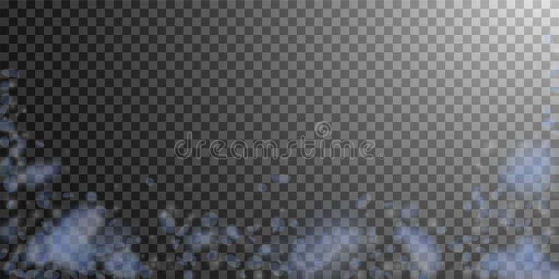 Светлый - голубые лепестки цветка падая вниз Заколдовывать иллюстрация штока