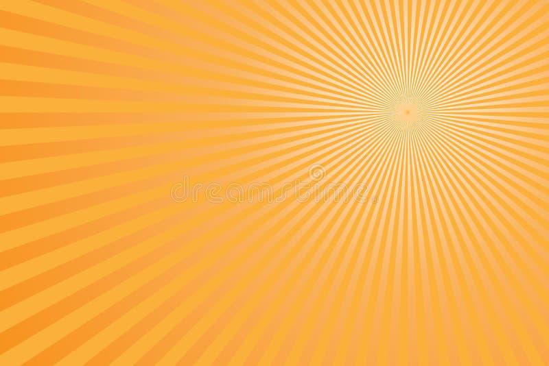 Светлый - желтый взрыв лучей Солнца бесплатная иллюстрация