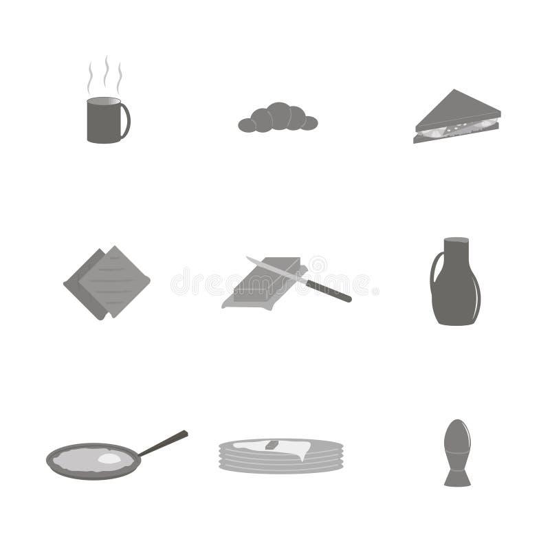 Светлый завтрак утра иллюстрация вектора