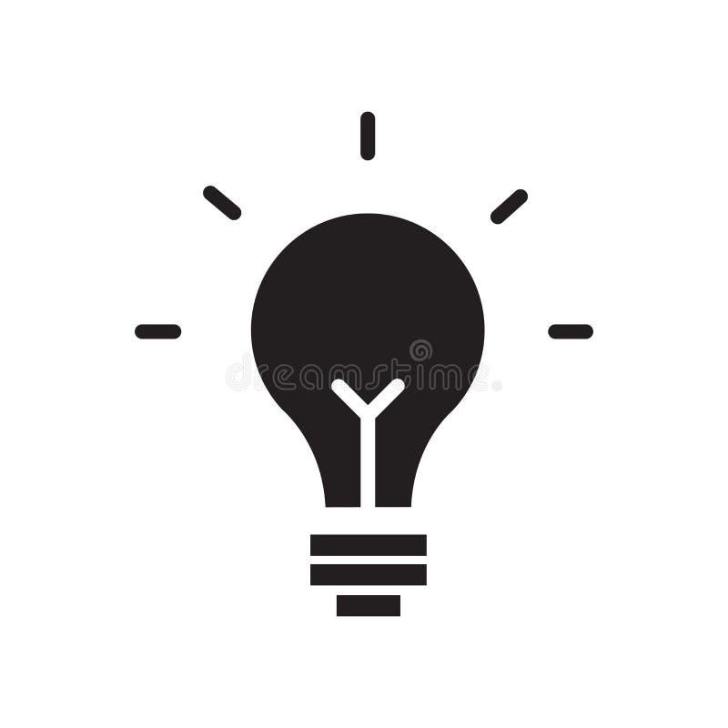 Светлый знак и символ вектора значка шарика изолированные на белом backgro бесплатная иллюстрация