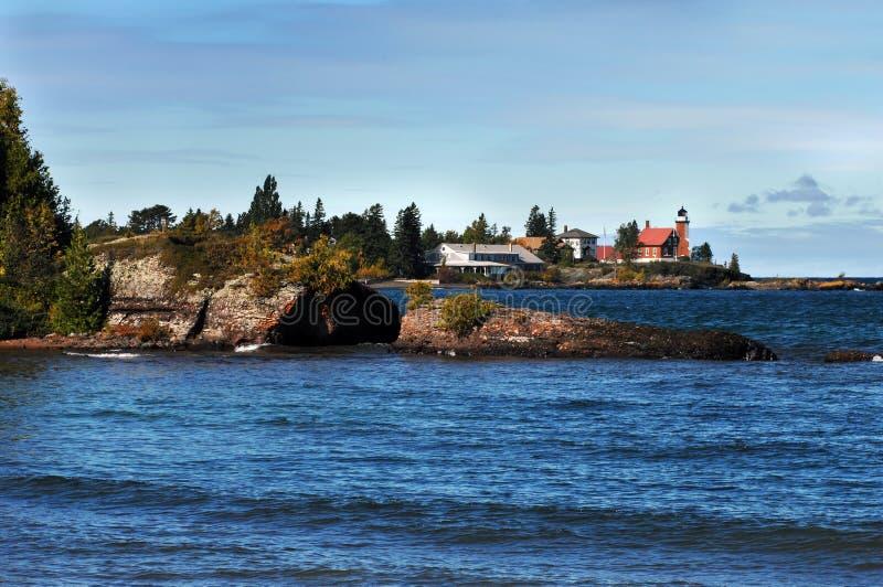 светлый красный цвет маяка стоковое фото