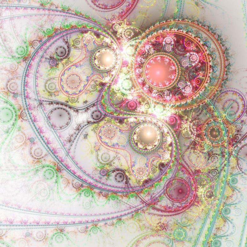Светлый красочный clockwork фрактали бесплатная иллюстрация