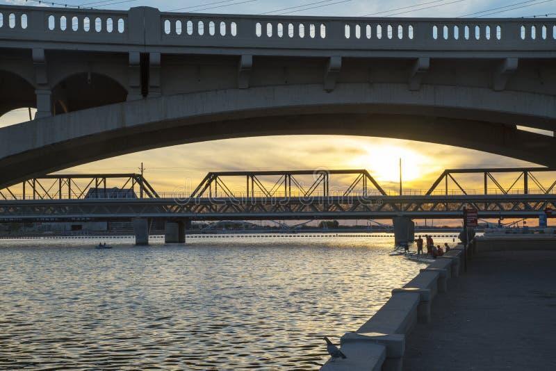 Светлый мост рельса стоковые фото
