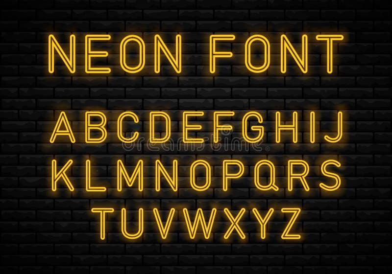 Светлый неоновый шрифт бесплатная иллюстрация