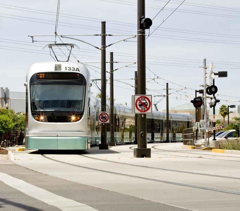 светлый поезд рельса phoenix метро стоковое фото rf