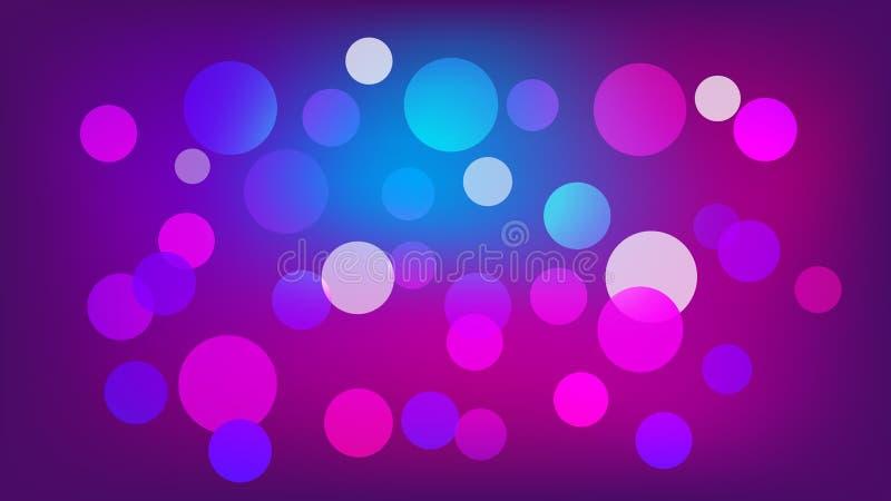 Светлый - пурпурная предпосылка вектора с кругами Иллюстрация с набором светить красочной ступенчатости Картина для буклетов, лис иллюстрация штока