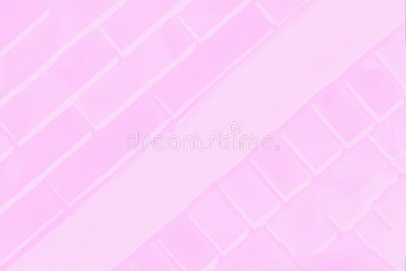 Светлый - розовая предпосылка цвета с чувствительной картиной кирпича стоковое изображение rf