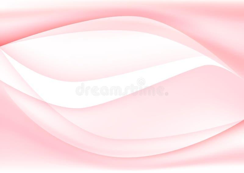 Светлый - розовые кривые для абстрактной предпосылки бесплатная иллюстрация