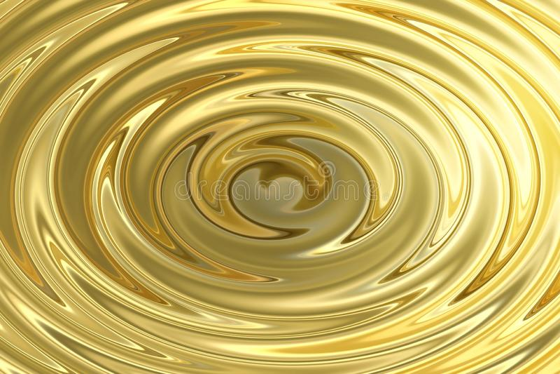 Светлый светить на пульсации воды золота, абстрактной предпосылке текстуры иллюстрация вектора