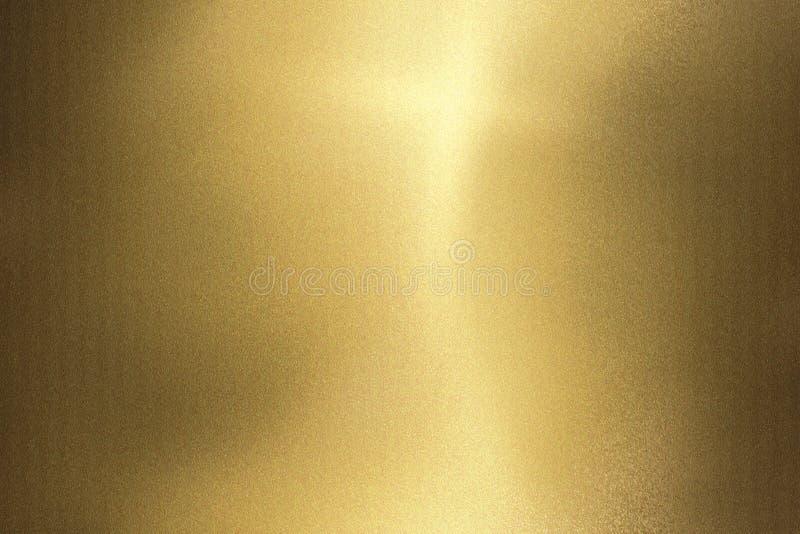Светлый светить на стене металла волны золота, абстрактной предпосылке текстуры иллюстрация штока