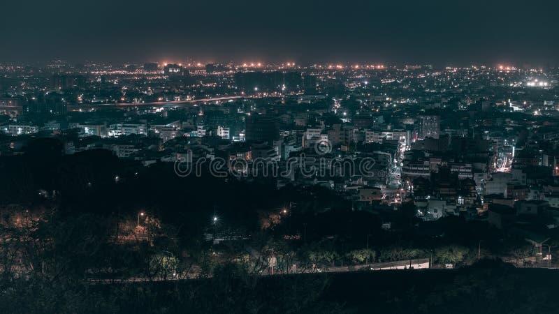 Светлый след в Taichung стоковые фотографии rf