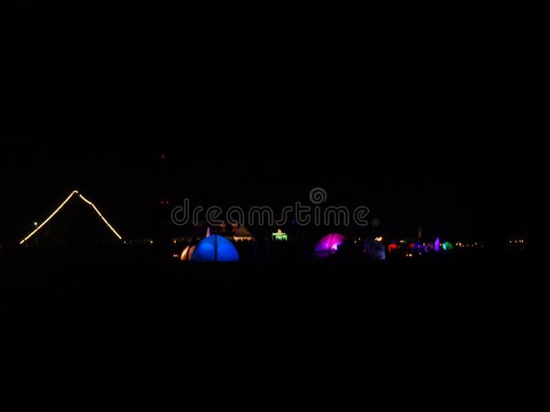 Светлый фестиваль Lichtermeer, Вильгельмсхафен, Германия стоковые изображения rf