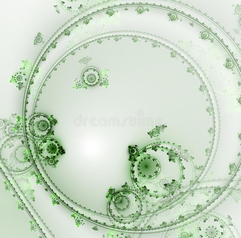 Светлый clockwork фрактали иллюстрация вектора