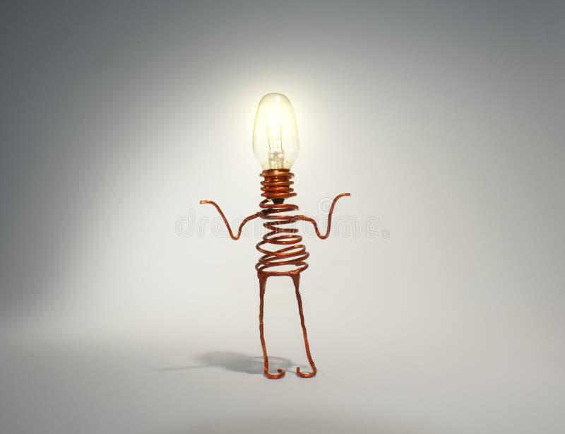 Светлый shrugging робота глобуса стоковая фотография
