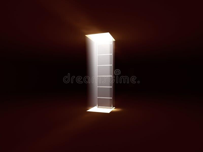 светлый stairway к бесплатная иллюстрация