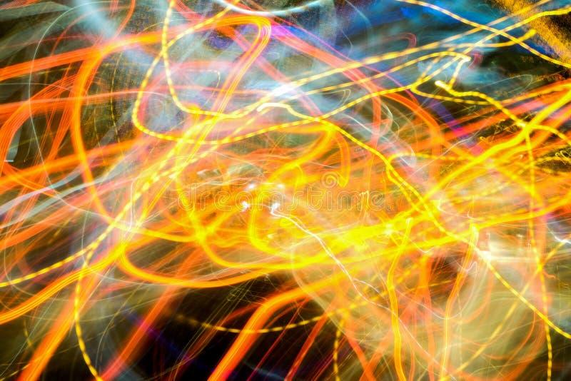 Световой эффект медленной выдержки затвора стоковое изображение rf