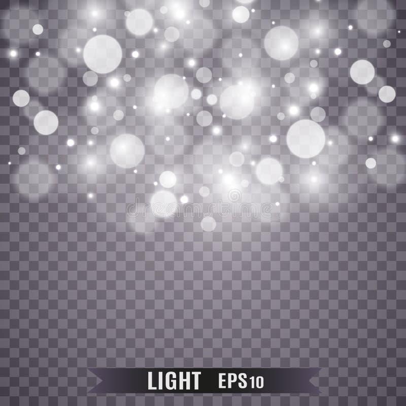 Световой эффект яркого блеска звезд особенный Вектор сверкнает на прозрачной предпосылке r стоковая фотография rf