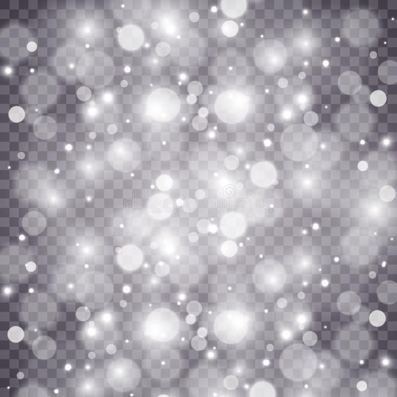 Световой эффект яркого блеска звезд особенный Вектор сверкнает на прозрачной предпосылке r стоковая фотография