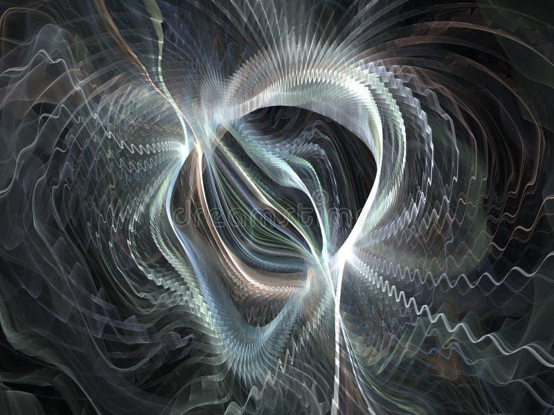 световые волны силы поля иллюстрация штока