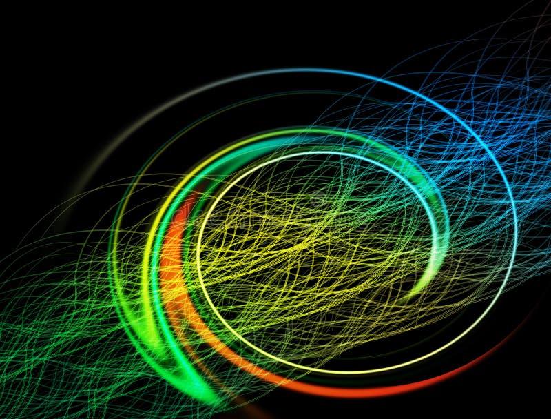 Световые лучи внушительных обоев сияя стоковое изображение rf