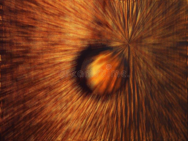 Световые лучи разбрасывают в различные направления после взрыва стоковая фотография rf