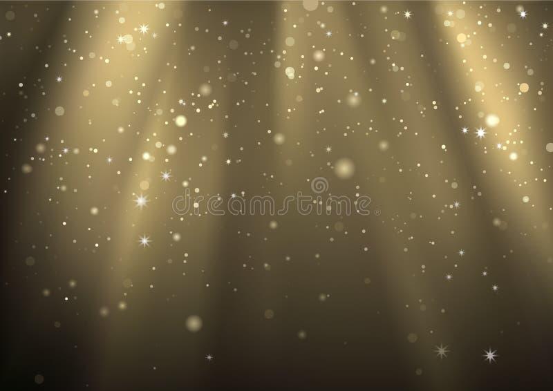Световые лучи и светлая пыль иллюстрация штока