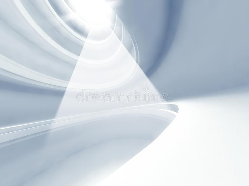 световые лучи современной архитектуры 3d внутренние и бесплатная иллюстрация