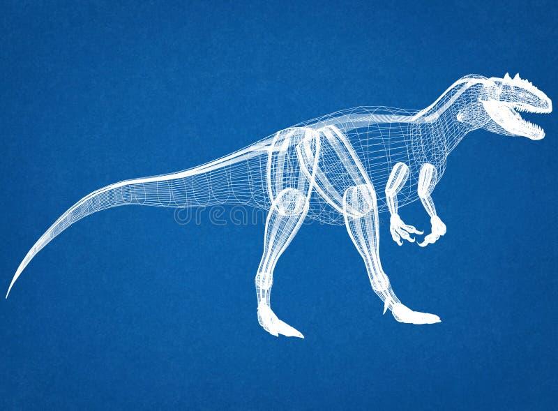 Светокопия архитектора динозавра стоковые изображения rf