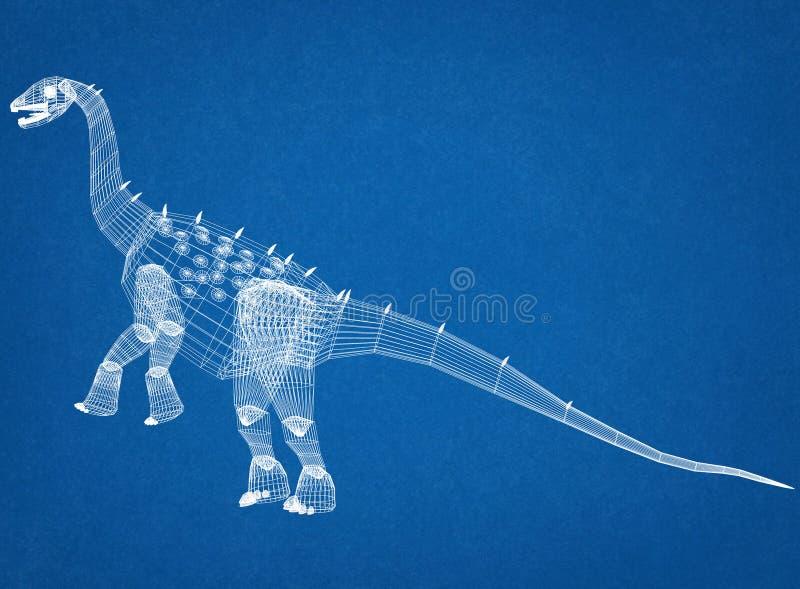 Светокопия архитектора динозавров стоковые фотографии rf