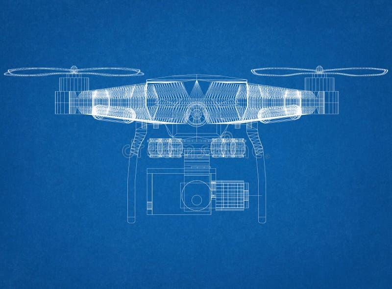Светокопия архитектора концепции трутня стоковое изображение