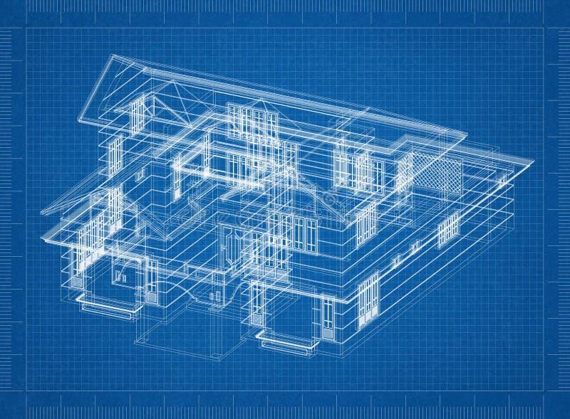 Светокопия дизайна дома бесплатная иллюстрация