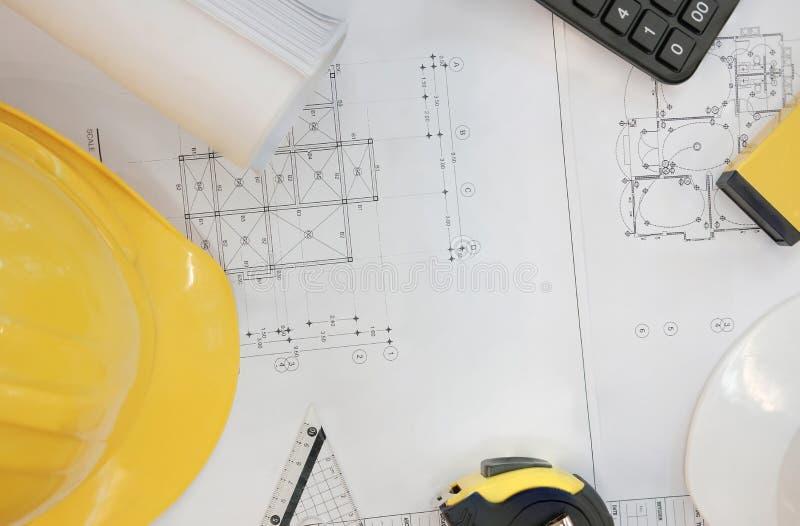 светокопия дома проекта недвижимости на инженере wo архитектора стоковые изображения