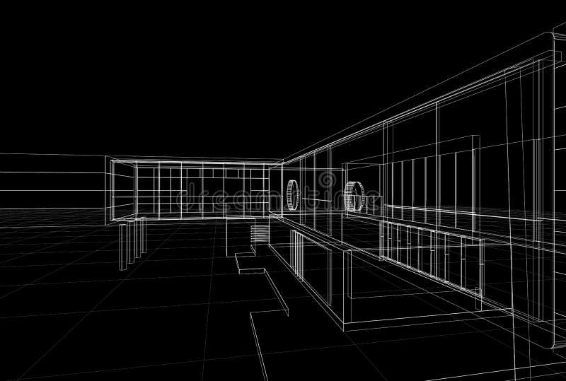 Светокопия здания бесплатная иллюстрация