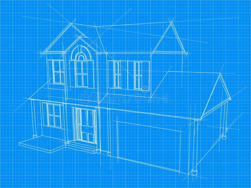 Светокопия дома бесплатная иллюстрация