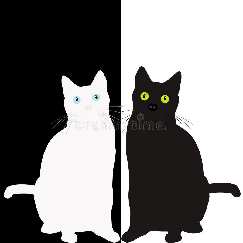 Светотеневые коты бесплатная иллюстрация
