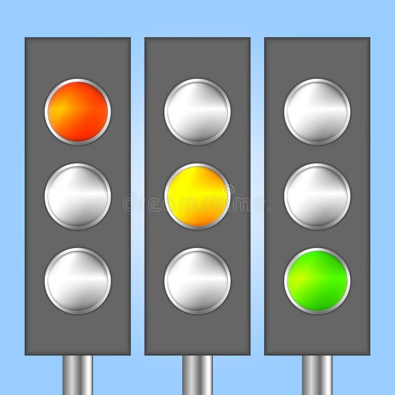 Светофоры иллюстрация вектора
