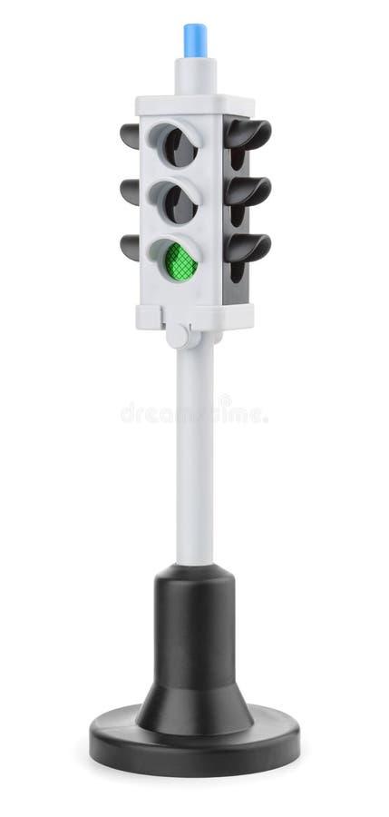 Светофор игрушки пластиковый стоковая фотография rf